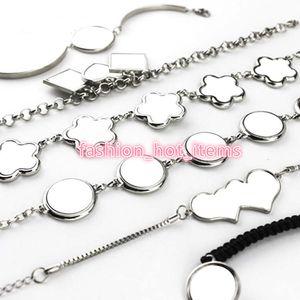 Regalo di natale sublimazione in bianco braccialetto personalizzato Moda gioielli in fiore a forma di braccialetto fai da te lega bracciale in metallo braccialetto bangle 2019 Nuovo