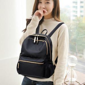 Designer-Black Oxford Backpack For Teenage Girls Bag Sac A Dos Femme Female Knapsack School Bags Fashion Women Simple Backpacks M157