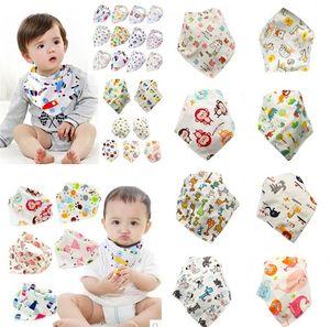 Neue Hübsche Baby Rülpsen Tücher Fütterung Dreieck Lätzchen Baumwolle Infant Lätzchen Animal Print Baby Lätzchen 1000 Teile/Los T2I044