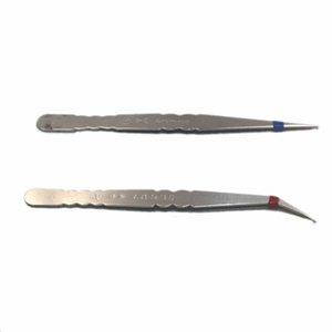 Fabrikpreis Direktverkauf Edelstahl Pinzette, spitze Ellenbogen Werkzeug, Vogelnest Clip Pfropfen Wimpern Pinzette