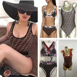 패션 디자인 수영복 FF 편지 비치 비키니 여성 수영복 패션 수영 의상 의류 여름 원피스 수영복 F4847 INS