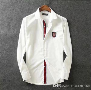 pur coton mercerisé à manches longues en coton hommes chemise de revers mince mode coréenne belle chemise d'affaires décontractée hommes