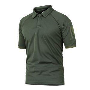 Verano táctica militar camuflaje Escalada Hikingcamping camiseta Hombre al aire libre Coolmax de secado rápido camiseta Ejército Camisetas de deporte
