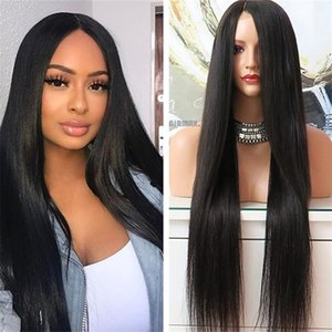 Stock Human Hair Lace Wig Silk Straight 10a Top Quality Malaysian Virgin Human Hair Lace Front Wig for Black Woman Free Shipping