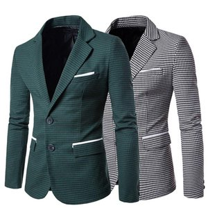 Men's clothing Casual Blazer Fashion Long Sleeve Wedding Dress Coat Autumn White Social Business Mens Blazer Jacket