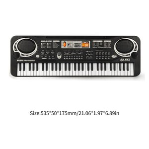 61 Tasten Musik Elektronische Digital-Keyboard Elektrische Orgel Kinder Große Geschenke mit Mikrofon Musikinstrument Top Qualität