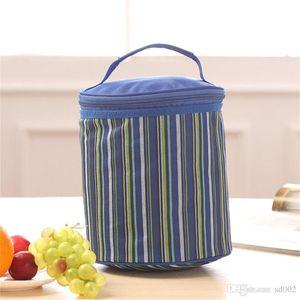 Oxford Разбитое Proof цветы Изолированный Cooler цилиндр воды сумка сохранения тепла портативный пакет Zipper Ice пак Hot Sale 6 4sdC1