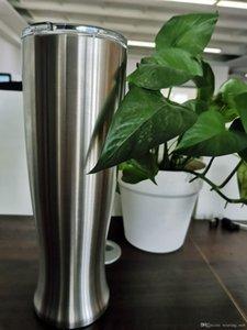 30 oz Paslanmaz Çelik Pilsner Beer Glass Mug Yaratıcı Vazo Kupası ile Kapaklar soğuk kutu özel tutun Office Ev Coffee vacumm bira taklacılar