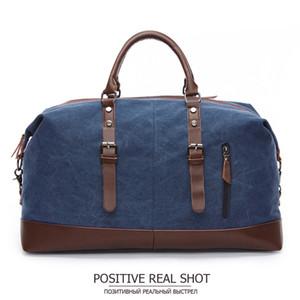 MARKROYAL мода холст дорожная сумка кожа большой емкости старинные сумки для багажа повседневная винтажная простая сумка Dropshipping K990g