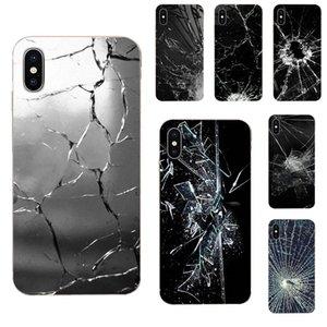Sur mesure pour Galaxy Note 10 Alpha Pro A10 A20 A30 A40 A50 A20E A60 A70 A80 A90 M10 M20 M30 M40 Soft Art Print cas de couverture Broken Glass