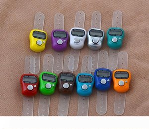 Digital Hand Tally Counter LCD Electronic Finger Hand Ring Knitting Row Tally Counter Random Color WB1295
