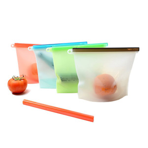 Silicone Food Bag Fresh Sealed Bags Reusable Preservation Bags Airtight Seal Storage Container 1000ml GT80