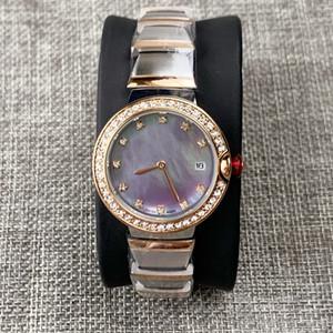 Hochwertige neue Ankunfts-Frauen-Kleid-Uhr Gold-fahion Stahl Armbanduhren Quarz für Dame Female Uhr Uhren Mujer Geschenke Armreif Uhren Box
