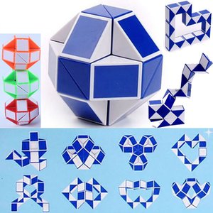 Mini Magic Cube New Hot Snake Shape Toy Game 3D Cube Puzzle Twist Puzzle Toy Gift Random Intelligence Toys Party Favor DHL WX-T17