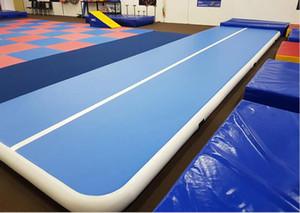 Ücretsiz Kargo Şişme Hava Parça 8x2x0.2m Şişme Jimnastik Mat Hava Tamburlama Track bir Pompalı 8 inç Kalınlığı