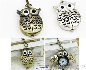Nette Weinlese Nachthalsketten-Anhänger-Quarz-Taschen-Uhr-Halskette Uhren Schlüsselbund J016
