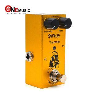 SAPHUE Elektro Gitar Tremolo Yoğunluk / Hızı Topuz Efekt Pedal Mini Tek Tip DC 9V Gerçek Baypas