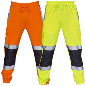 2020 New Fashion Men's Safety Sweat Pants Sport Yoga Work Fleece Bottoms Jogging Trousers Joggers