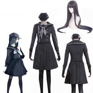 Danganronpa V3 죽이는 하모니 Saihara 슈이치 여성 슈퍼 탐정 코스프레 유니폼 선원 드레스 할로윈 Outift