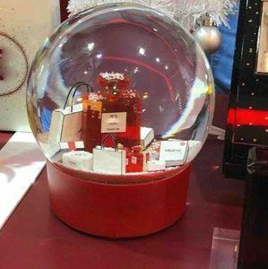 2020 Yeni Kırmızı Elektrikli Büyük Kar Küre Klasikleri No.5 Kristal Topu VIP Müşteri için Sınırlı Hediye