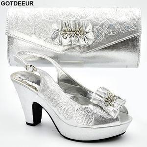 Matching Shoes and Bag Set In Heels Nigerian Women Party Pumps Designer Shoes Women  2019 Shoe and Bag Italian Design Set