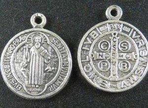 Encantos de prata Benedict Medalha Cruz Vintage Cristo Redentor catolicismo Pingentes Dangle Para jóias pulseira fazer presentes NOVO 60pcs