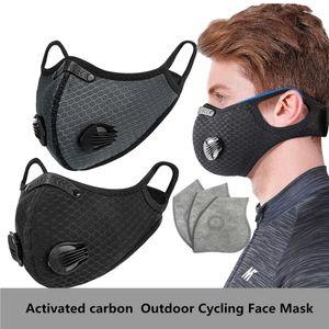 EPACK 3PCS Activated Carbon Máscaras Máscaras anti-anochecer anti-vaho a prueba de viento a prueba de polvo respirable máscara de protección solar ciclo al aire libre de la cara