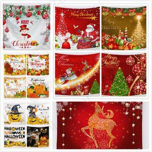 76 Designs Tapisserie Hallowmas Danksagung Tag Weihnachten Tapisserie Festival Wand Hanging Matten Strandtuch Picknick Decke Sofa Cover Party Bac