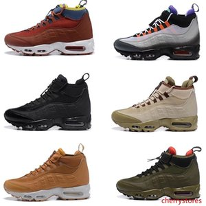 2020 New S Mens Snekerboot Black Army Green Brunchy Red Designer Boots Men High Sports Training Shoes Sneakers 7-12