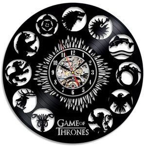 Game of Thrones Stark Khaleesi HBO Movie Characters Disegnato da un orologio da parete design Home Decor Art Handmade regalo