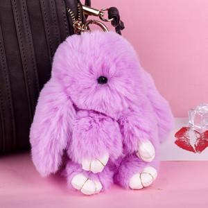 Kadınlar Çanta Oyuncak Bebek Kabarık Pom Güzel Ponpon Anahtarlık İçin Yeni 18cm Sevimli Pluff Bunny Anahtarlık Rex Orijinal Tavşan Kürk Anahtarlıklar