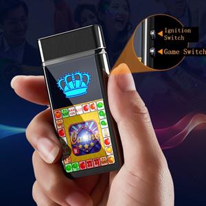 Colorful Entertainment Game USB Cigarette Lighter Cyclic Charging Windbreak Innovative Design Zinc Alloy Luxury Enjoyment Decorate