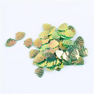 3D Yeşil Denizkızı Shell Tırnak Toz Holo Glitter Pullarda Flakes Manikür Dekorasyon Nail Art İpuçları ayarlar