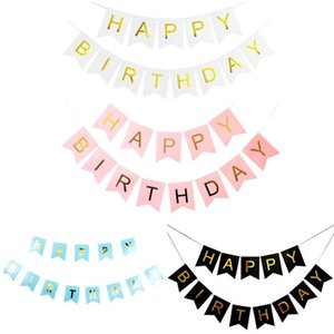 생일 파티 장식 페타 플래그 행잉 배너 플래그 윈도우 플래그 어린이 생일 파티 축하 플래그 DH1285를 당겨