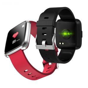 Y7 Plus Smart orologio IP67 Impermeabile Touch Screen Monitor della frequenza cardiaca Pressione sanguigna Donna Uomo Y7P Smartwatch per Android IOS