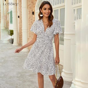 Dress Women White Summer Floral Mini Sundress Casual Ladies Ruched Waisted Black Fitted Clothing 2020 Trendy Red Clothes Women