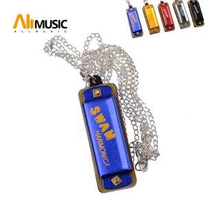 Mini 4 fori 8 tono armonica per i bambini con la catena educativo musicale Musica giocattolo dello strumento colore casuale
