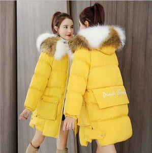 2019 Winterbaumwollfrauen modische Temperament Wärme dicke Baumwolljacke mit Kapuze langen Student unten Baumwolljacke