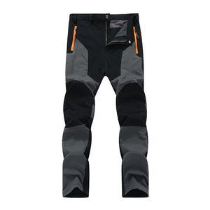Vendita calda Oversized Men Hiking Pants Impermeabile Pantaloni da esterno Pantaloni soft Shell Shell Pantaloni Campo Pesce Salita Escursionismo Sport Traveling Training