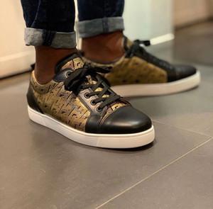 Low Top Junior Tennis Flachlackleder Männer Sneakers Low Top Junior Orlato beiläufige rote untere Schuhe Perfekte Designer Gehen EU35-47