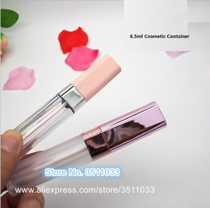 NEW Square Pink cap Lip Gloss Tubes Empty Clear Lip Glaze bottle Frosted Eyeliner Tube Lip Beauty cosmetic Packing Container