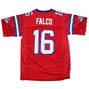 Shane Falco # 16 The Replacements Jersey Film Hommes Football Cousu Rouge S-3XL de haute qualité Livraison gratuite