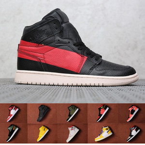 2019 Union 1 Couture Defiant Prohibido Negro Baloncesto Rojo Zapatos Chicago Crystal SoleFly x 1s Alto OG Mujer Hombre Chaussures de Baskets Ball