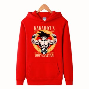 High-Q Unisex Anime Kakarotto PulloverHoodies Sweatshirts Jacke beiläufige mit Kapuze Hoodie-Jackenmantel