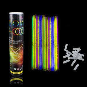 100pcs / set 20CM glühende Sticks Mischfarbe Glühend LumiStick Licht Durable super hellen Schein-Stick Armbänder Dekoration Zubehör Sticks