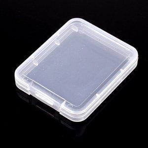 Yeni Paramparça Konteyner Plastik Kutu Koruma Kılıf Kart Bellek Kartı Boxs CF kart Aracı Plastik Wax Dry için şeffaf Depolama