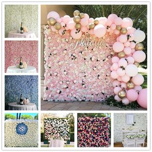 Şifreleme çiçek duvar suni romantik bitki duvarı Şakayık ortanca çiçek düğün dekorasyon arka plan sahne sahne gül 54 Renkler