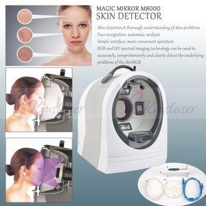 analizador de piel 8 millones de píxeles con RGB + UV digital faciales Máquina Análisis de la piel con el analizador de cuerpo de la pluma prueba mositure