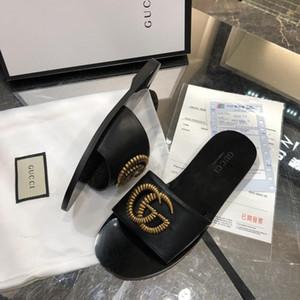 Iduzi Tasarımcılar lüks Terlik Çevirme Rihanna ace kadın sandalet kaymaz Terlik çevirme terlik Patik boyutu 35-42