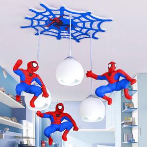 Mais novo pingente de lâmpadas super hero led pingente luzes para o quarto do miúdo sala de iluminação luminárias de teto do homem aranha controle remoto